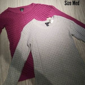 Rue 21 Knitted Crew Neck Sweater Lot